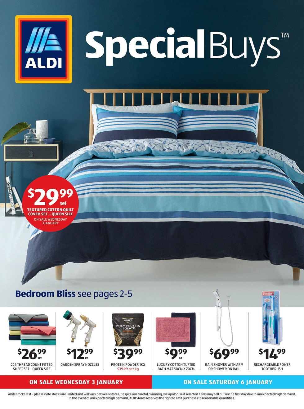 aldi special buys catalogue 3rd jan 2018 9th jan 2018. Black Bedroom Furniture Sets. Home Design Ideas