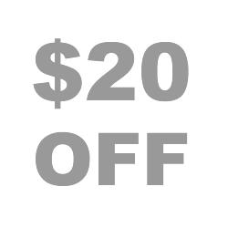 20 dollars off