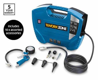 Aldi portable air compressor by Workzone