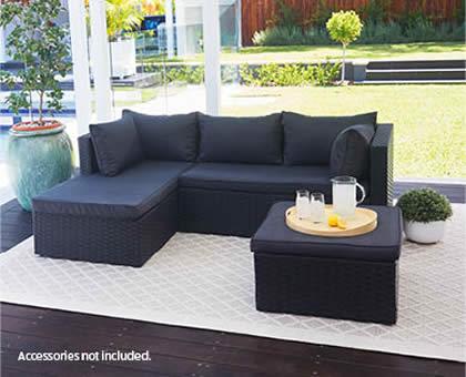 gardenline outdoor wicker setting aldi 349. Black Bedroom Furniture Sets. Home Design Ideas