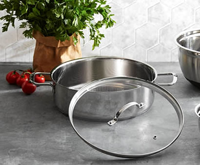 ALDI 28cm Stainless Steel Pan by Crofton
