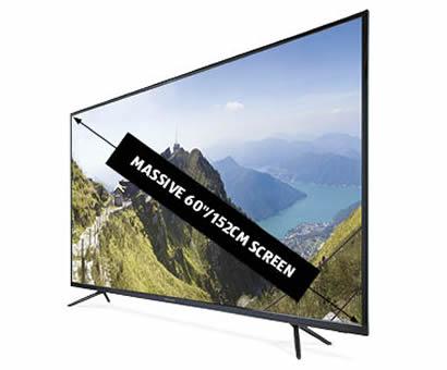 ALDI 60 Inch Ultra HD 4K TV by BAUHN