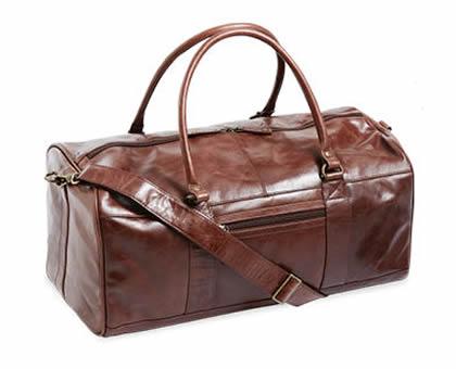 Aldi Burnish Brown Overnight Bag by Royal Class