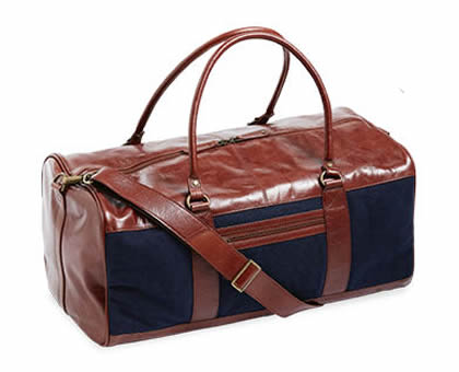ALDI Maroon Leather Overnight Bag by Royal Class