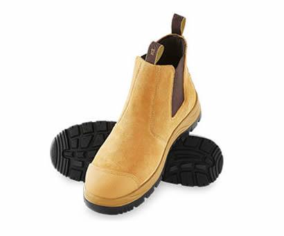 ALDI steel cap work boots by Workzone: Twin Gusset style