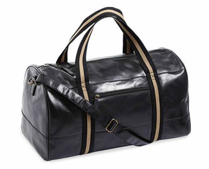 Royal Class Sports Black Leather Overnight Bag from ALDI Australia