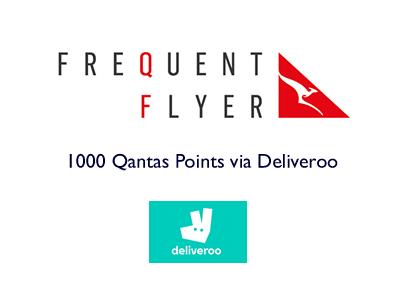 1000 Qantas points via Deliveroo