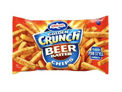 Birds Eye golden crunch beer batter chips 750g