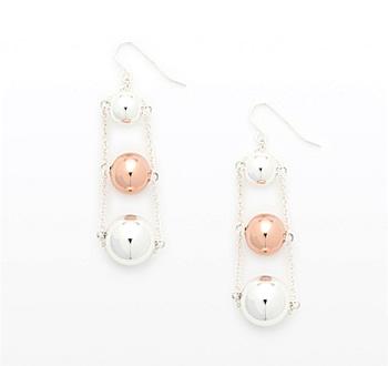 Country Road Dahlia Ball Earrings