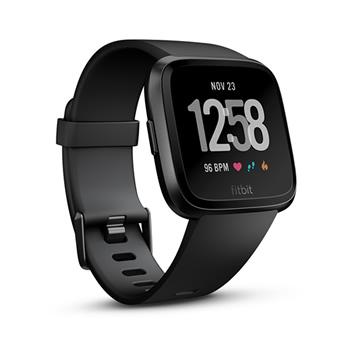 Fitbit Versa Black Aluminum Smartwatch at Onsport