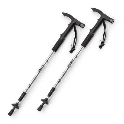 HDF Adjustable Anti-Shock LED Hiking Stick