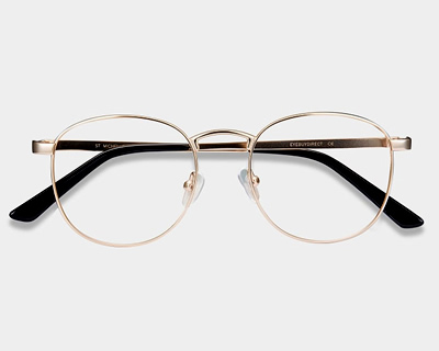 St Michel Golden Eyeglasses