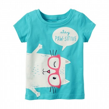 Carter's Stay Pawsitive Baby Girl T-Shirt by OshKosh