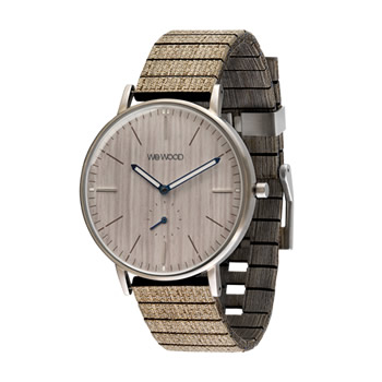 WeWood Albacore Silver White Pear Wood Watch