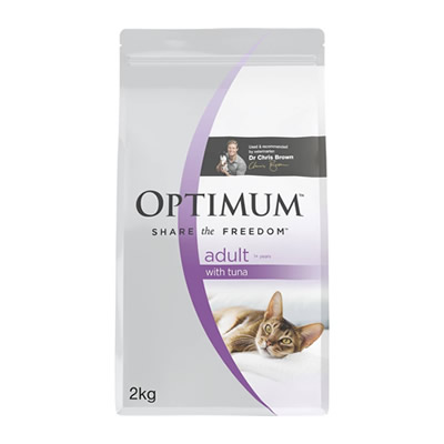 Optimum Dry Cat Food Adult Tuna 2kg
