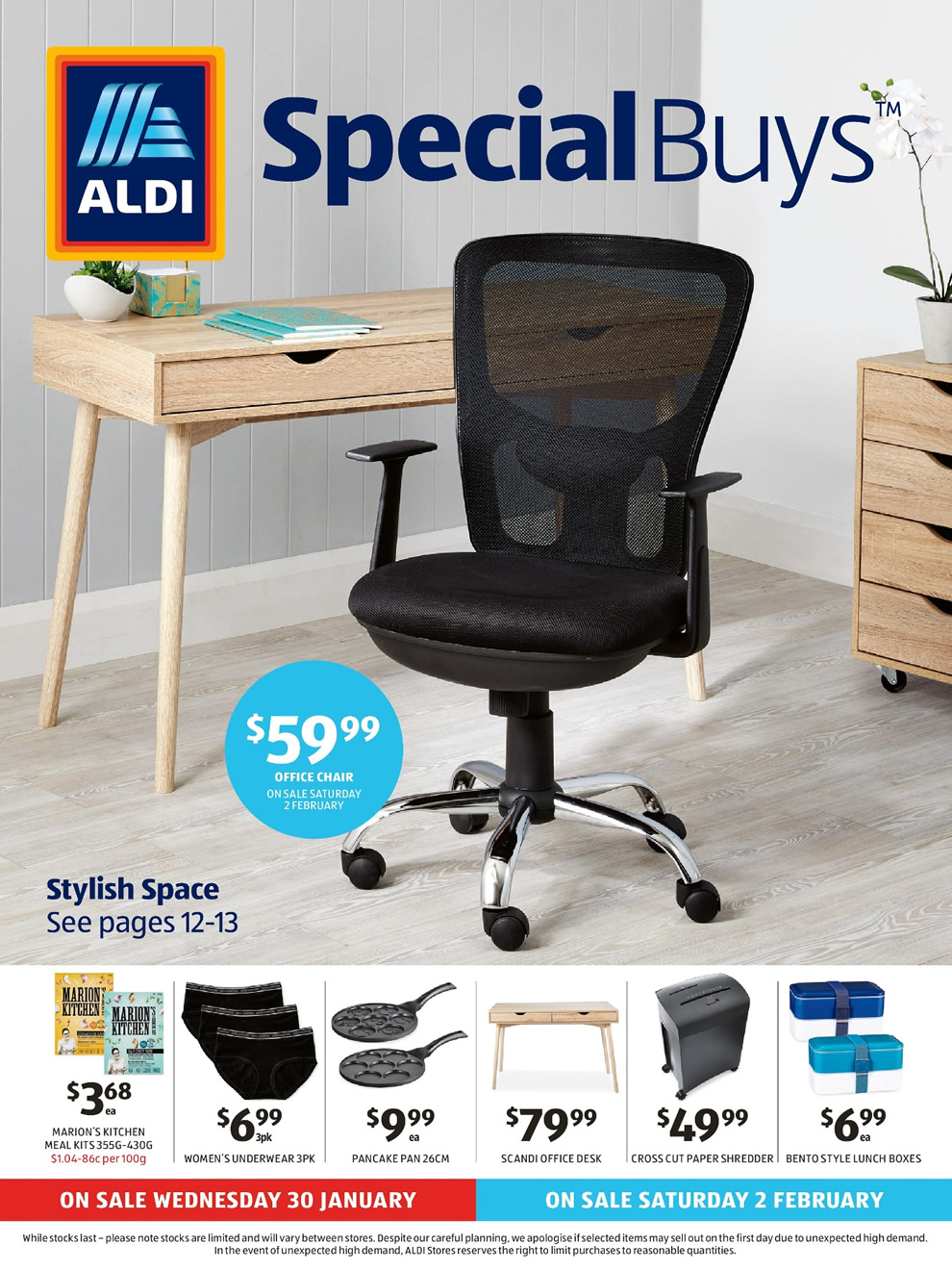 aldi special buys catalogue 30 jan 05 feb 2019 page 2. Black Bedroom Furniture Sets. Home Design Ideas