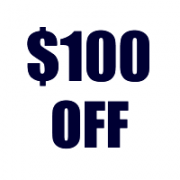 Take $100 Off Your Order