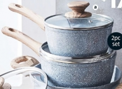 Ceramic Saucepans 2 Piece Set $17.99