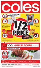 Coles Weekly Specials Catalogue – From 07-04-2021