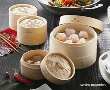 Crofton Bamboo Steamer Sets Assorted $8