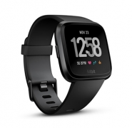 Fitbit Versa Black Aluminium Smartwatch $270