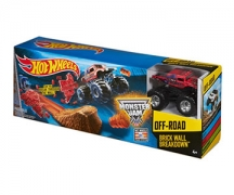 Hot Wheels Monster Jam Brick Wall Breakdown Trackset $10