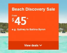 Jetstar Beach Discovery Sale: Domestic Fares From $45