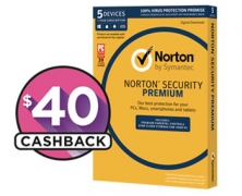 Norton Security Premium 25GB 5 Devices $21.60 @ The Good Guys