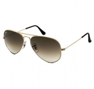 Ray-Ban RB3025 Aviator Gold/Green Polarised Sunglasses $150