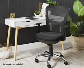 SOHL Scandi Office Desk With 2 Drawers $79.99