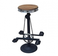 Timber Seat Cast Iron Pedal Bar Stool $109