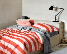 Aura Wide Stripe Blush Red Quilt Cover $40